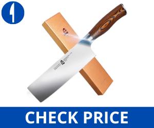 """TUO Nakiri Knife - 6.5"""" Fiery Series japanese knives"""