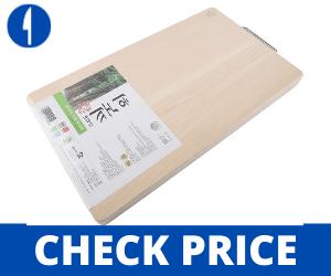 BOUMBI-Hinoki-Wood-Reversible-Cutting-Board-with-Metal-Handle yoshihiro cutting board