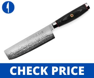 Enso SG2 Nakiri Knife - 101 Layer Stainless Damascus, 6.5-inch japanese style knife