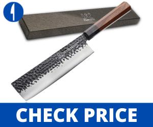 Japanese Nakiri Knife, 3 layer 9CR18MOV-7 inch japanese style knives