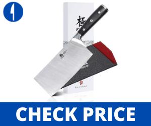 "KYOKU Samurai Series - 7"" Cleaver Knife Knife - with Sheath & Case"
