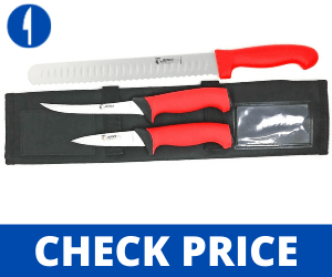 Jero 4 Piece Smoked Meat And Grilling Knife Set butchers knives