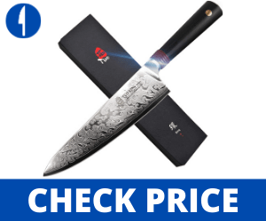 """TUO Damascus Chef's Knife, 8"""" - Ring-R Series TUO Chef knives"""