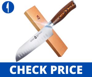 TUO Santoku Knife - Asian Granton Chef Knife - 7 inch - Fiery Phoenix Series Tuo Cutlery Review