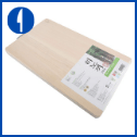 BOUMBI Hinoki Wood Reversible Cutting Board with Metal Handle