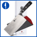 KYOKU Samurai Series – 7″ Cleaver – Carbon Steel Japanese