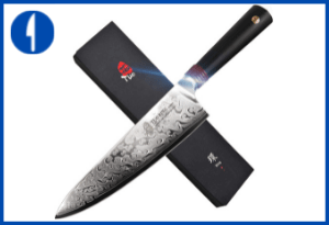 TUO Damascus Chef's Knife, 8 - Ring-R Series