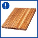 Teakhaus by Proteak Edge Grain Carving Board w/Hand Grip